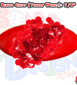 Bingo Chips, Tiddlywinks, Clear Plastic Chips Game Pieces