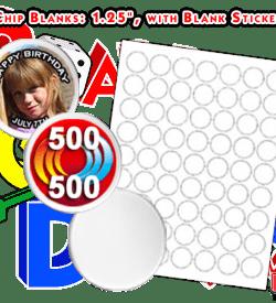 """Blank Poker Chips 1.25"""", Custom Poker Chips"""